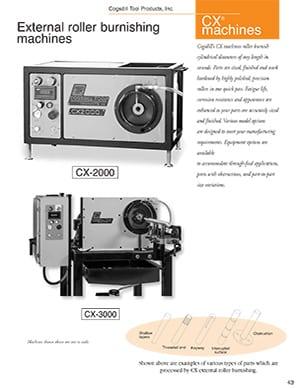 Cogsdill Machines CX de galetage externes