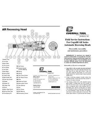 instructions de service sur site Serie AR