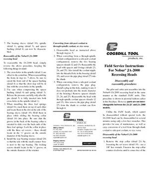 instructions de service sur site JA-2000